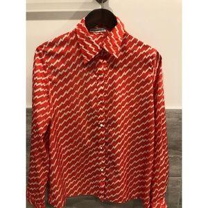 Funky 70's vintage style orange shirt